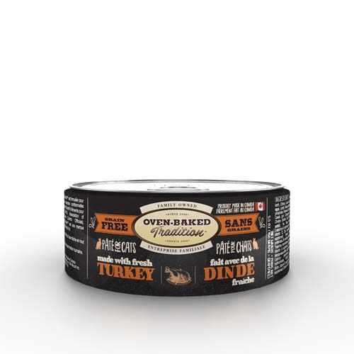 OBT Oven-Baked Tradition Pate TURKEY adult cat 156g pulyka