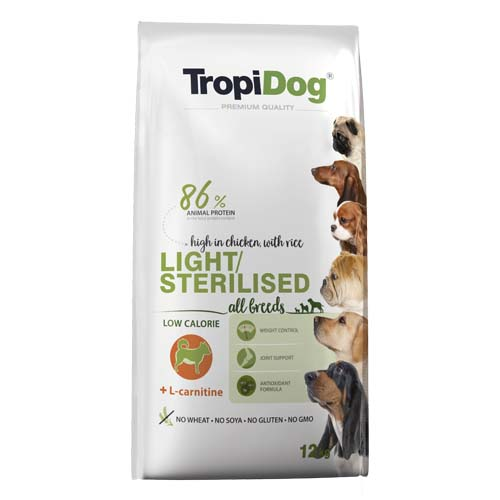 TropiDog Premium Light / Sterilised 12kg