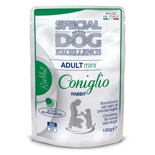 MONGE SPECIAL DOG EXCELLENCE  MINI ADULT nyúl 100g alutasak
