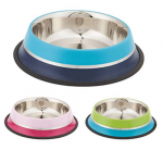 LES FILOUS Bella, Double Colored Bowl w/ removable Anti Skid Ring &