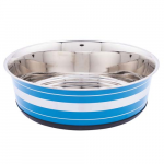 LES FILOUS Heavy Striped Bowls w/ Removable Rubber Ring, 0,525L, 14,5cm