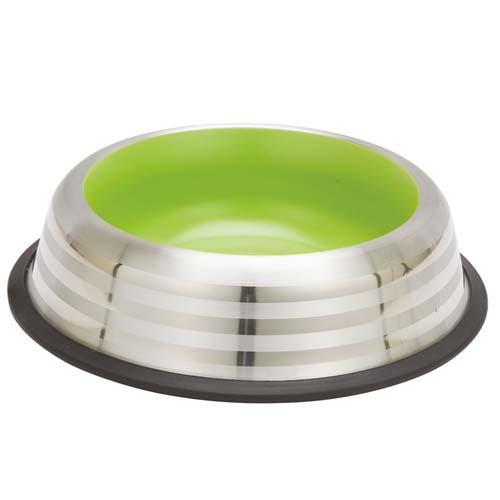 LES FILOUS Striped bowl w/ Removable Rubber Ring & Color Inside, 1L, 24,5cm