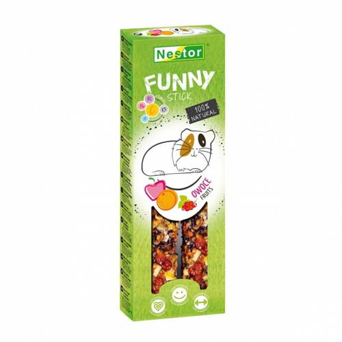NESTOR FUNNY STICK rodents fruits 2pcs / 115g
