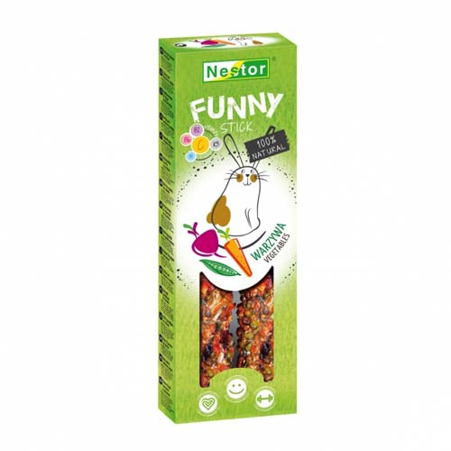 NESTOR FUNNY STICK rodents vegetables 2pcs 115g