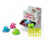EBI CAT TOY WANNA PLAY OCTOPUS ca.8x4.5cm/with rattle/DISPLAY