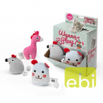 EBI CAT TOY WANNA PLAY ANIMAL ASS. DESIGNS/w.CATNIP/DISPLAY