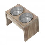 EBI D&D HOMECOLLECTION DINNERSET 2 37,5x19,5x20cm/WOOD&ZINC/MEDIUM