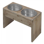 EBI D&D HOMECOLLECTION DINNERSET 4 55x28x40cm/WOOD&ZINC/X-LARGE