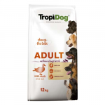 TropiDog Premium Adult Medium & Large 12kg kacsa rizzsel