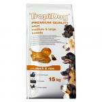 TropiDog Premium Adult Medium & Large 15kg kacsa rizzsel