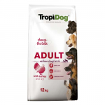 TropiDog Premium Adult Medium & Large 12kg pulyka rizzsel