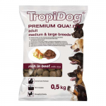 TropiDog Premium Adult Medium & Large 500g marha rizzsel