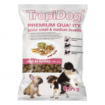 TropiDog Premium Junior Small & Medium 500g pulyka rizzsel