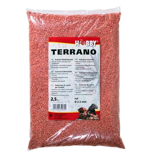 HOBBY Terrano Calcium Substrat Red 2-3mm  2,5kg